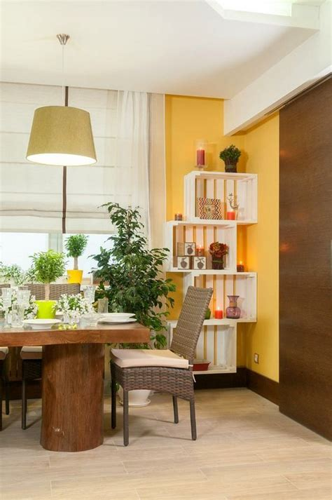 Naturalistic Yellow and Green Living Room with Summer Mood