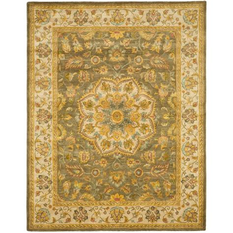 11 x 17 area rugs safavieh heritage green taupe 11 ft x 17 ft area rug hg954a 1117 the home depot