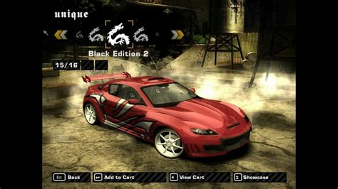 nfs most wanted wagen nfs most wanted tuning mazda rx8 hd