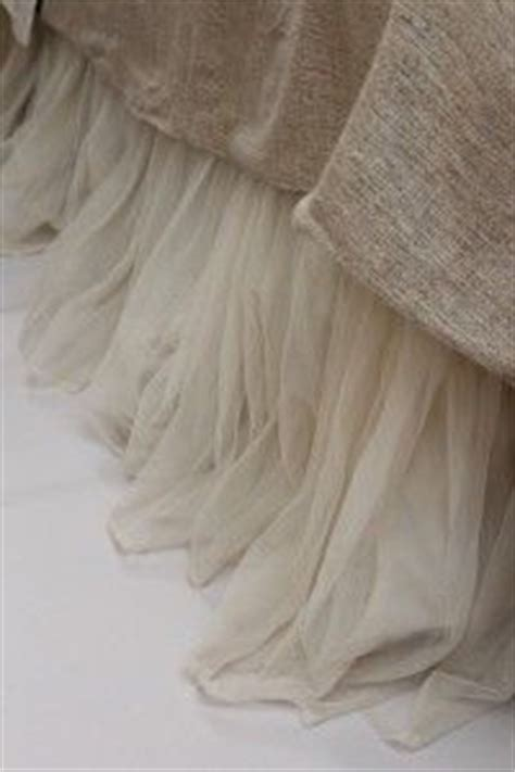 House Happenings Tulle Bed Skirt by Couture Dreams Whisper Ivory Bed Skirt Put This Same