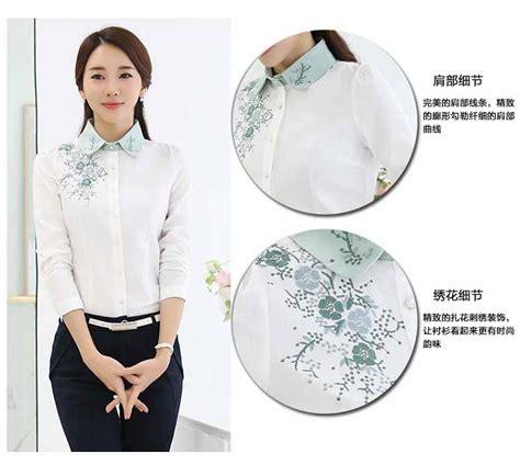 Kemeja Putih Wanita Lengan Panjang Pandah kemeja wanita warna putih lengan panjang model terbaru jual murah import kerja