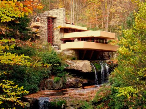 water falling fallingwater 1937 by frank lloyd wright