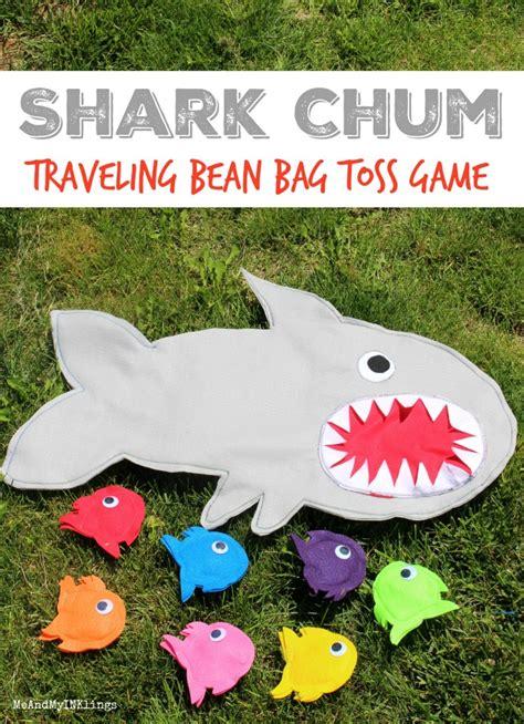 shark bean bag toss shark chum traveling bean bag toss