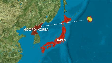 Raket Japan noord korea schiet raket japan heen nos