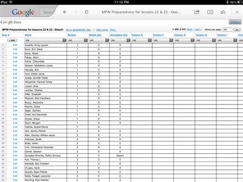 My Spreadsheets by The One Month Challenge Day 1 Data Printers