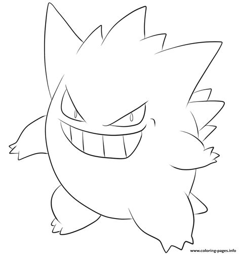 pokemon coloring pages gengar 094 gengar pokemon coloring pages printable