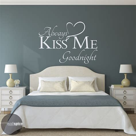 vinyl decals for home decor always kiss me goodnight vinyl wall decal sticker art home