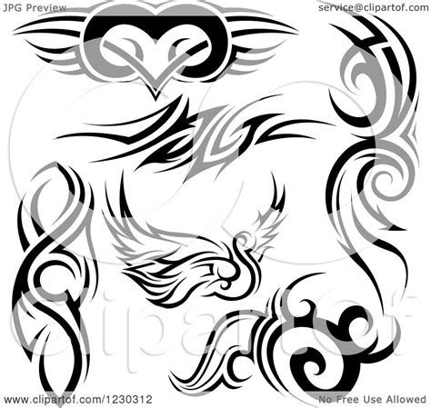 tribal swan tattoo designs clipart of a black and white tribal winged swan