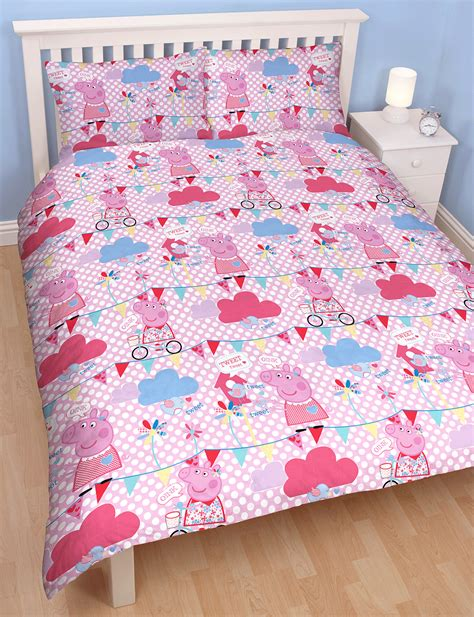 pig bedding peppa pig tweet reversible double duvet quilt cover
