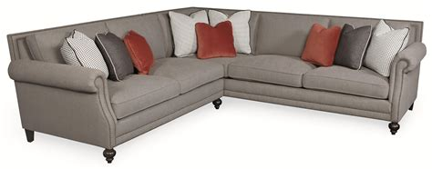 five sectional sofa bernhardt brae five seat sectional sofa with transitional