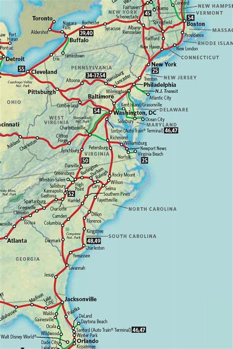 road map of east coast usa map of east coast maps map cv text biography template