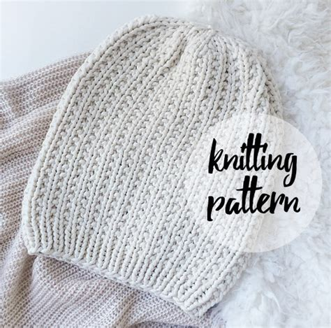 slouchy hat knitting pattern for beginners slouchy hat beanie knitting pattern by knittingwonders