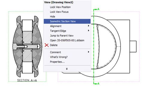 solidworks section view how to make an isometric section view in solidworks