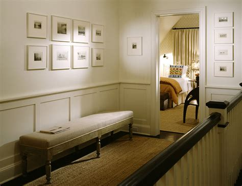 hallway wainscoting transitional entrance foyer nathan egan