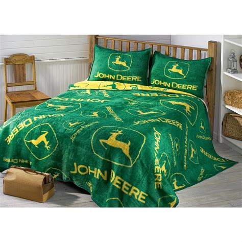 john deere bedding john deere 174 logos sham 77738 quilts at sportsman s guide
