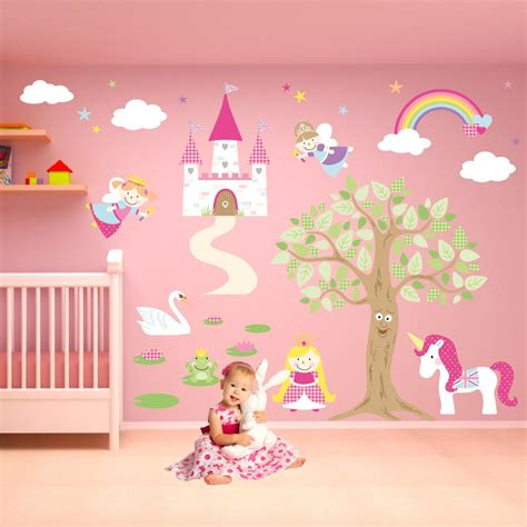 Deluxe Enchanted Fairy Princess Nursery Wall Stickers Princess Wall Decals For Nursery