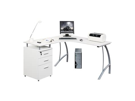 bureau multimedia blanc bureau multim 233 dia antinoe caisson 3 tiroirs blanc
