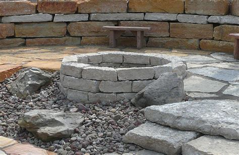 rock firepit lones landscape supply pits