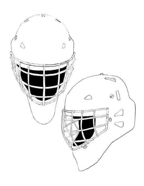 goalie helmet template image search results