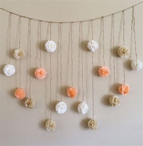 How To Make Paper Pom Pom Garland - pom pom garland and creams tissue paper flowers