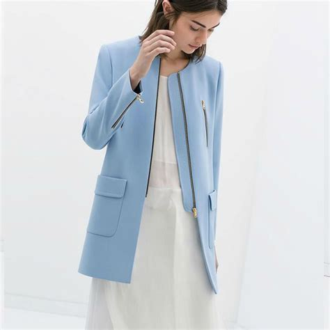 light blue winter coat light blue wool coat jacketin