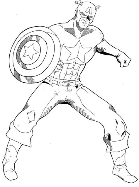 Captain America Coloring Pages Coloring Home Captain America Color Page