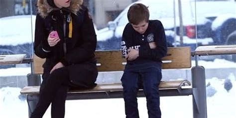 what happened when strangers saw a boy shivering