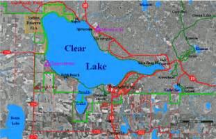 clear lake map california mountain national pard