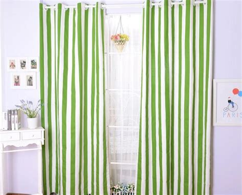 discount green striped curtain on sale for bedroom popular striped sheer curtains buy cheap striped sheer