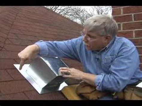 installing a bathroom exhaust fan through the roof roof flashing for bathroom fans youtube