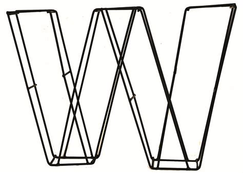 topiary letters topiary letter w
