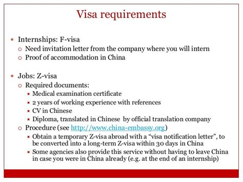 Work Experience Letter Format For Visa How To Get A In China Internship Network Asia