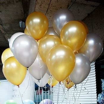Balon Metalik Gold Mix Silver 12inch make your shine with 12 inch gold silver pearl balloons combo kit 40ct on
