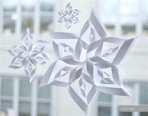 How To Make 3d Snowflakes Out Of Construction Paper - 100 snowflake templates
