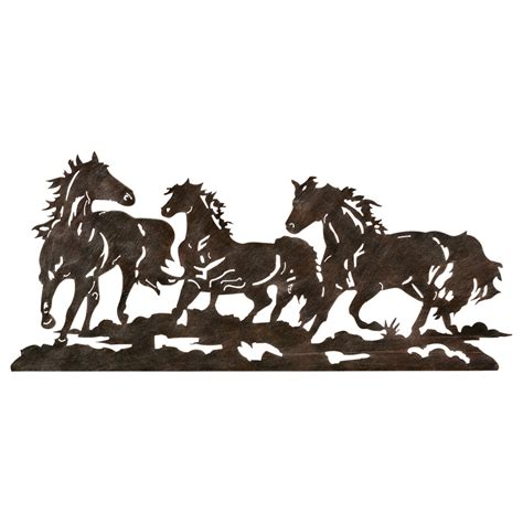 Home Interior Wall Hangings western metal wall art silhouettes takuice com