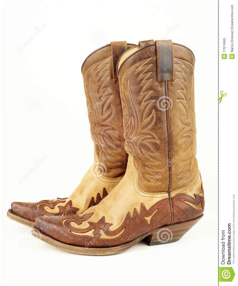 used cowboy boots used western boots royalty free stock photo image 17974565