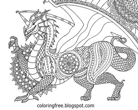 complex coloring pages of dragons free coloring pages printable pictures to color kids