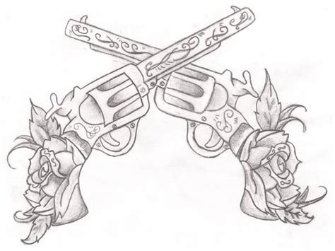 gun drawing in pencil coloring tattoo designs grig3 org