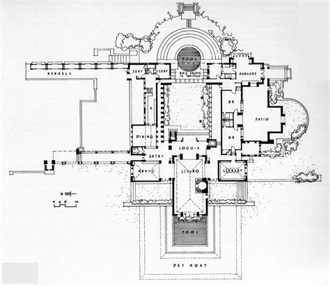 frank lloyd wright home and studio floor plan plans to build frank lloyd wright home plans pdf plans