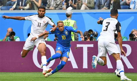 world cup live brazil vs costa rica score and goal