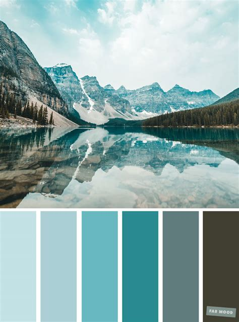 Color Palette : Teal Hue, grey and teal color scheme