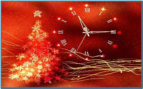 christmas clock screensaver free download christmas gold glow christmas clock screensaver download free