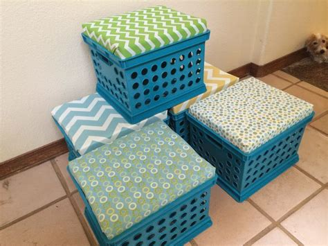 How To Make Crate Comfortable by 25 Best Ideas About Milk Crate Seats On Crate