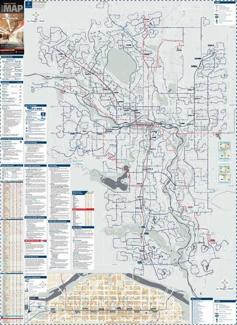 calgary city map streets calgary transit system and map maplets