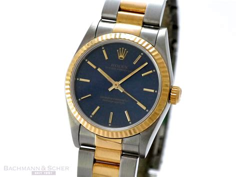 Medium Oyster rolex medium oyster ref 67513 18k yellow gold stainless steel papers bj 1996