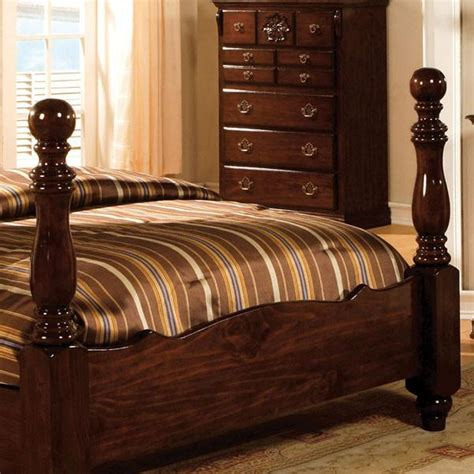 tuscan colonial style dark pine  piece bedroom set