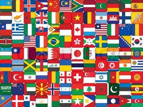 flags of the world clipart hintergrund gemacht der welt flaggen icons vektorgrafik