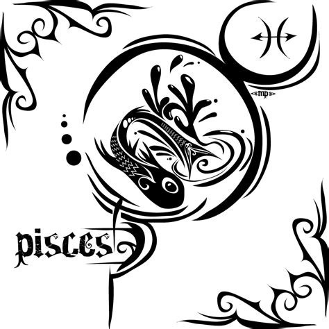 zodiac tribal tattoos zodiac symbols quot piscess scorpio aquarius quot tattoos