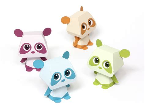 Toys With Paper - quorory panda paper paperkraft net free papercraft