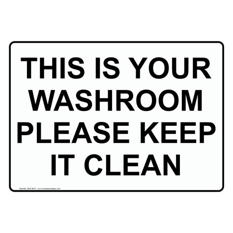 Kitchen Cabinet Discount by Keep Toilet Clean Signs Restroom Rules And Cleaning Signs